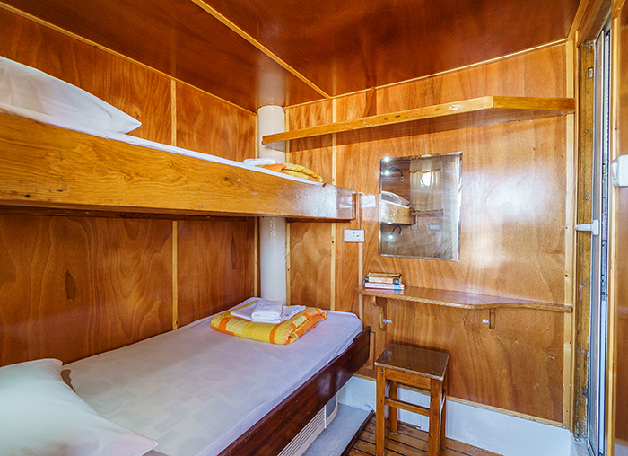 twin cabin above deck