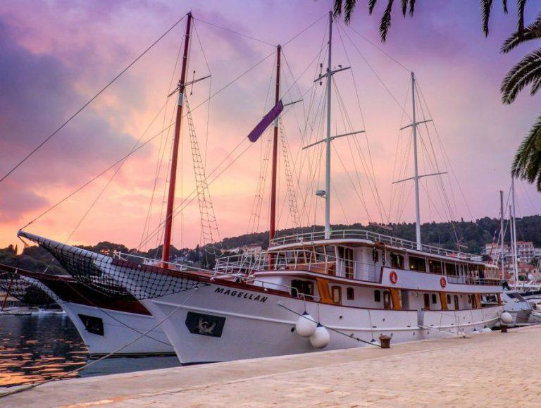 Magellan at sunset.