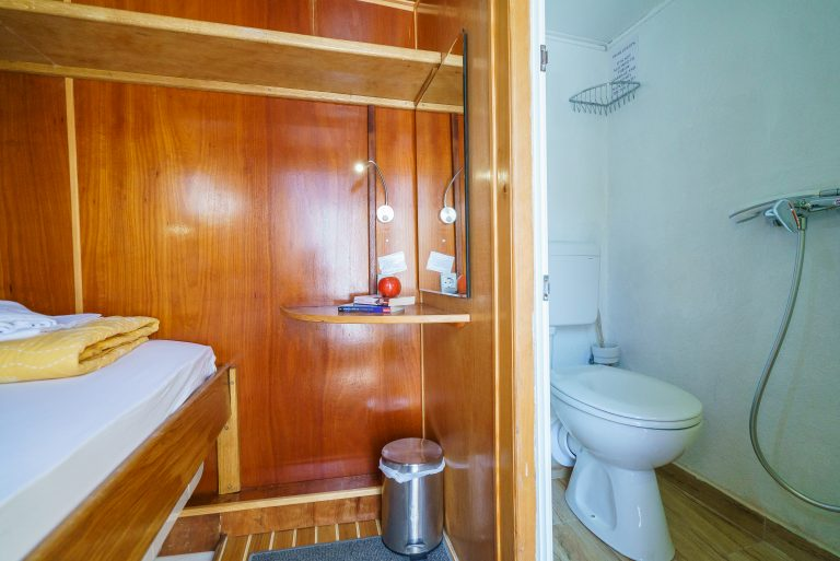 Easy access to every cabin's shower room.