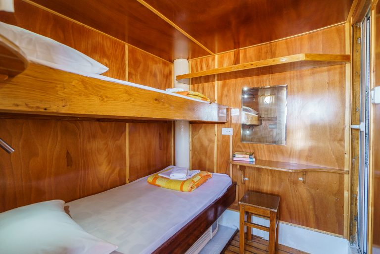 A twin cabin - above-deck