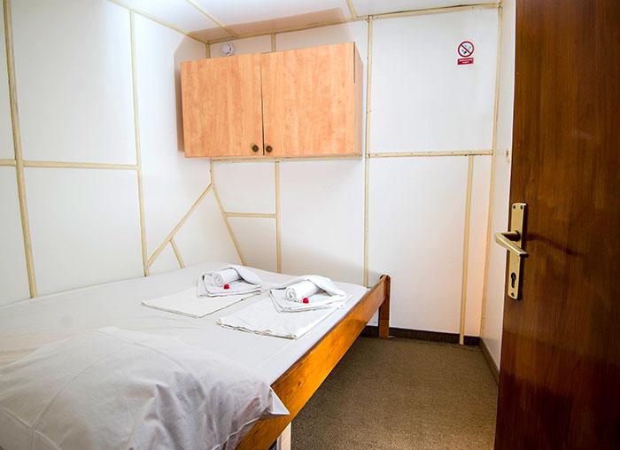 A below-deck double cabin