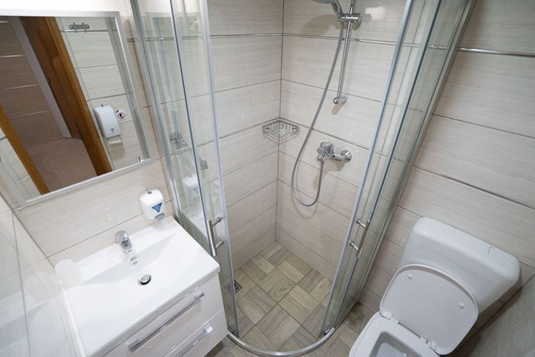 A typical ensuite shower-room/toilet.