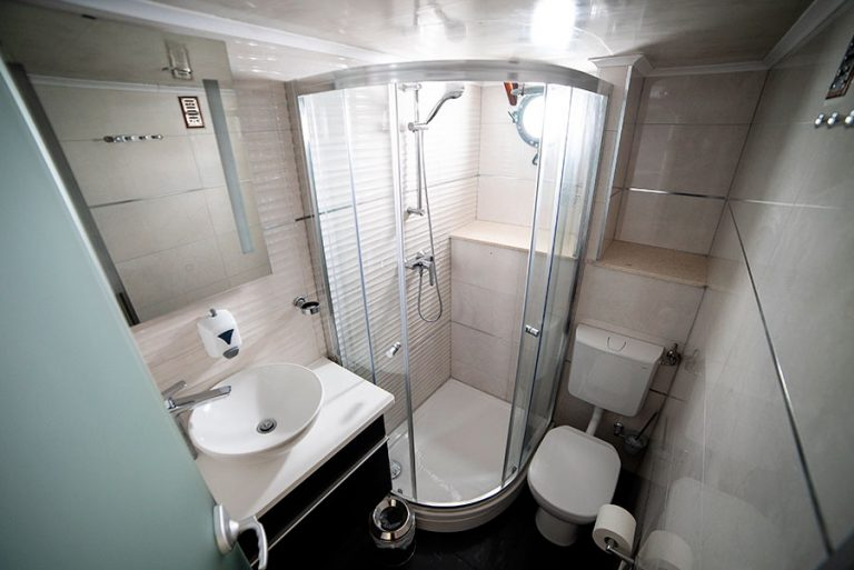 A typical ensuite shower-room.