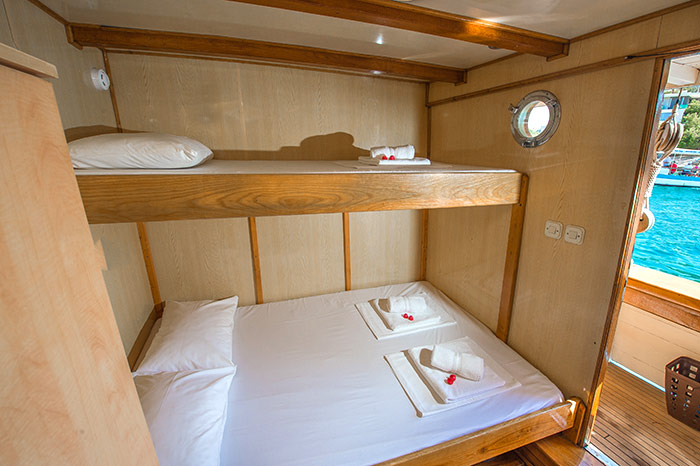 A sample of the view from an above-deck cabin