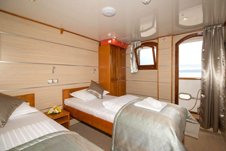 A twin above-deck cabin with superb views.